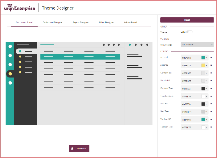 Creating and Implementing Custom Portal Themes to White-Label Embedded BI in Wyn Enterprise