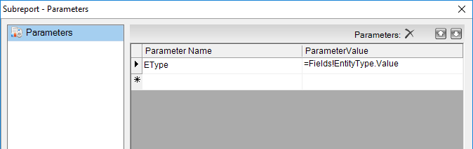 Parameters Collection editor