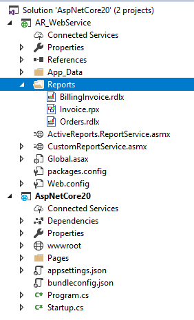 New folder structure for report service