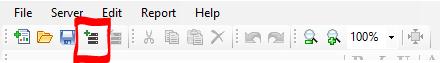 "Click ""connect the server"" in the ActiveReports Developer end-user designer"