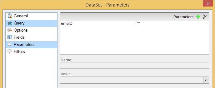 Dataset dialog