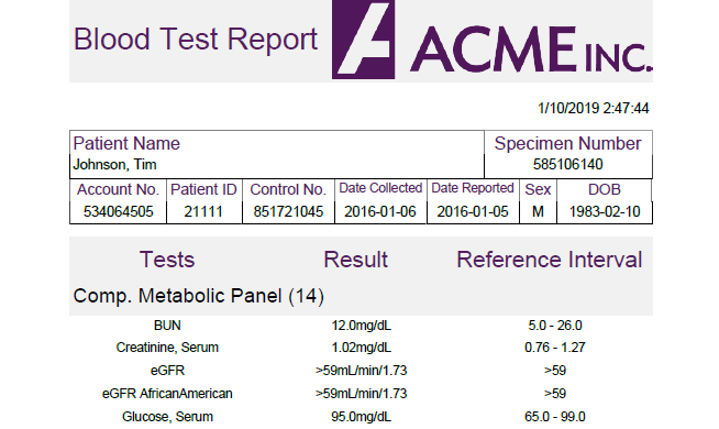 An ad hoc report created using GrapeCity's ActiveReports