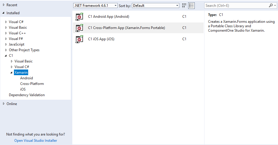xamarin studio code templates - a look at project templates in componentone studio for
