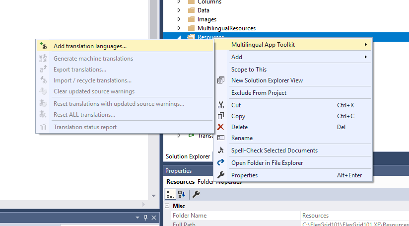 Getting Started with Multilingual App Toolkit | ComponentOne