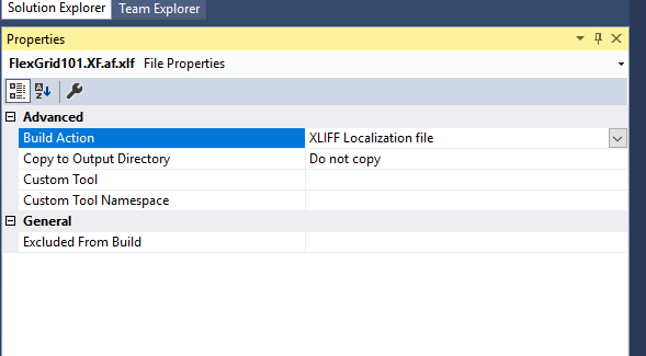 XLIFF localization file