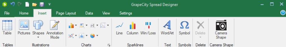 GrapeCity Spread Designer