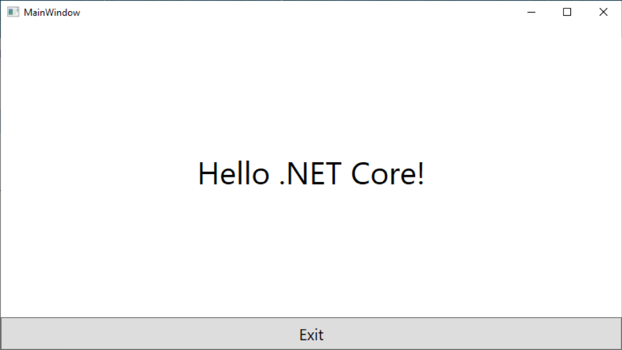 Creating a new .NET Core 3.0 application
