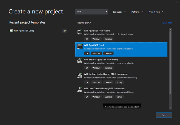 Using the  NET Core 3 0 Preview with WPF| ComponentOne