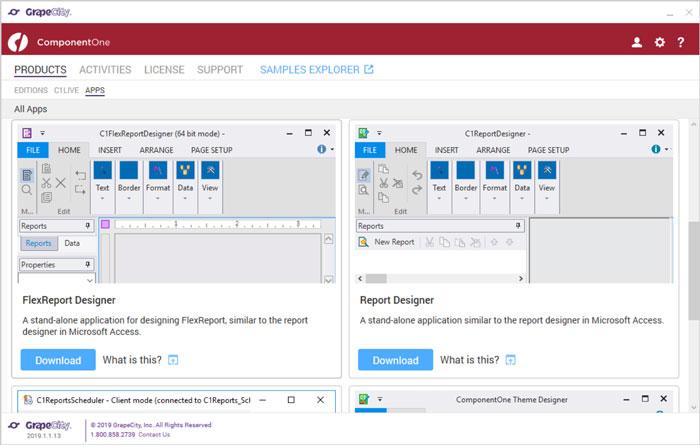 ComponentOne Studio Enterprise ControlPanel