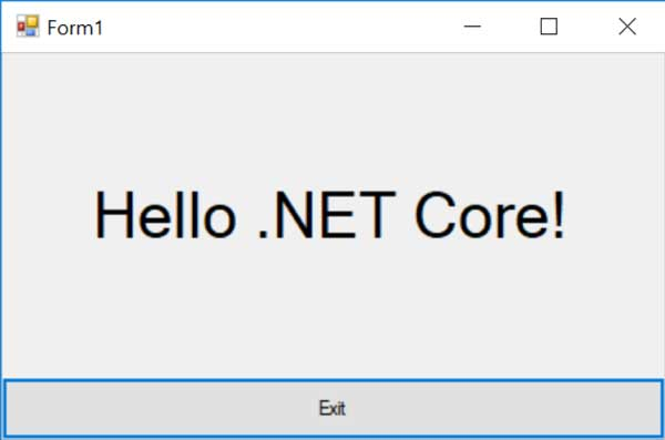 WinForms and .NET Core 3.0