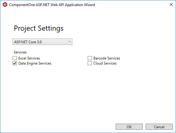 Using the ComponentOne DataEngine API for ASP.NET Core