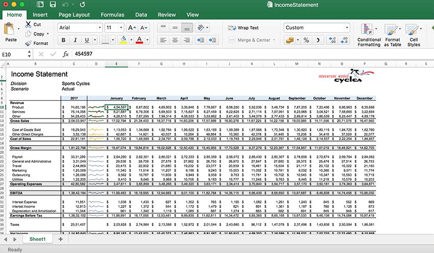 Spreadsheet API supports formatting