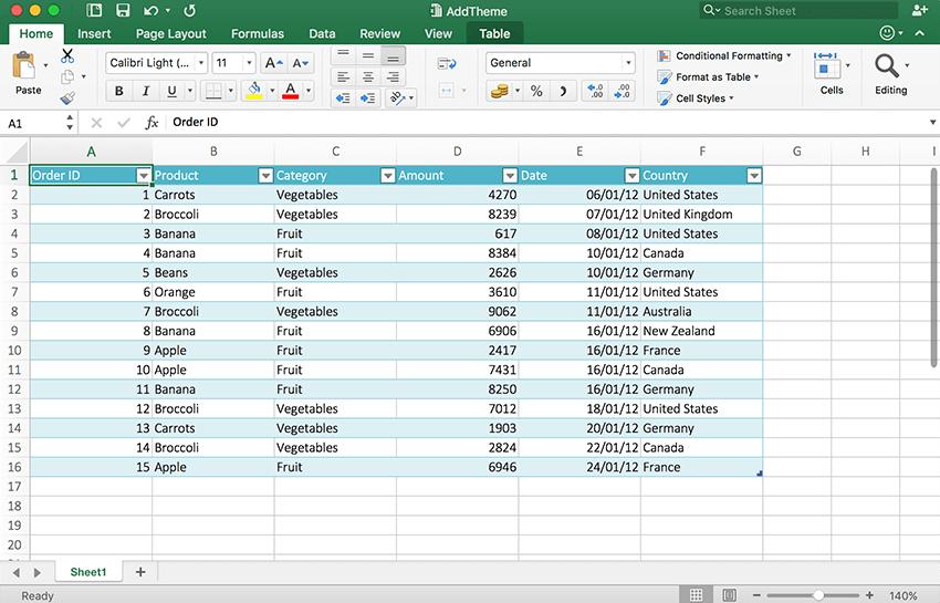 Spreadsheet API handles custom themes