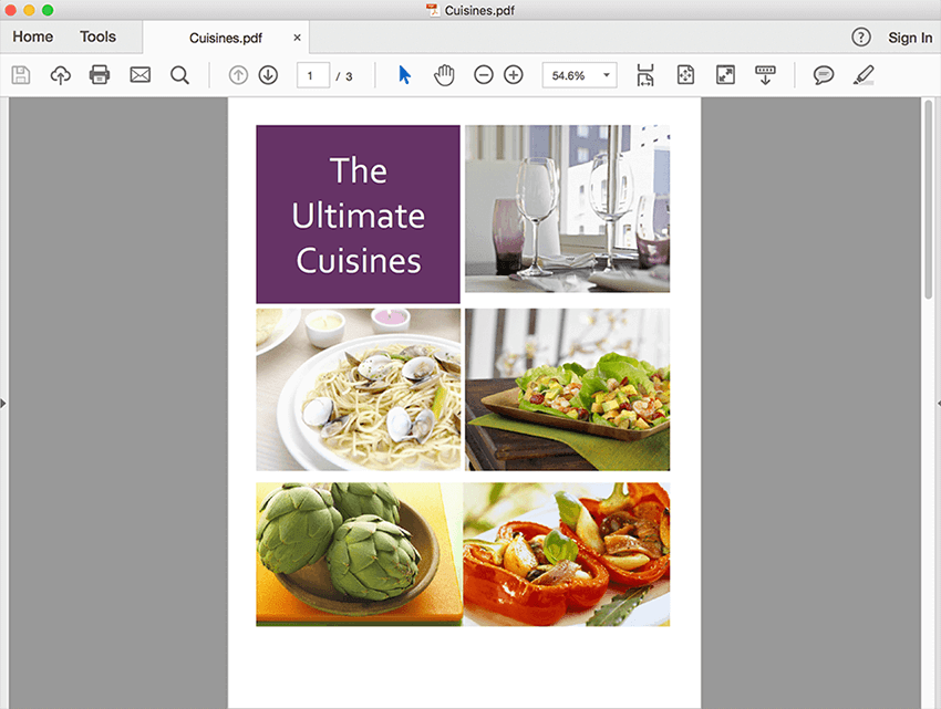 Add images and graphics to your PDF content