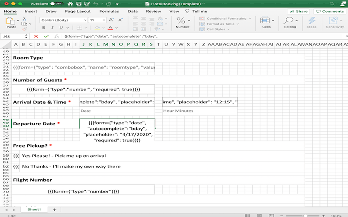 GcExcel Template Example for use with .NET and Java Excel Library and .NET and Java Excel API