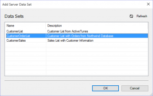 Add Server Data Set Dialog