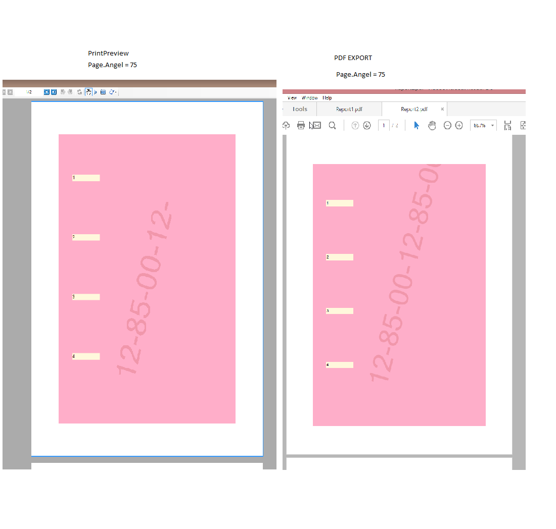 Problem with export report to PDF format | ActiveReports v7+