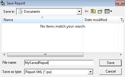 ActiveReports 2 Save Dialog
