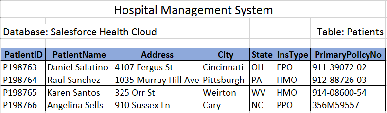 Hospital Management System Data