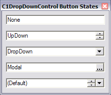 C1DropDownControl Button States
