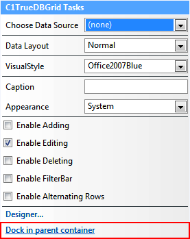 Easy Applications with ComponentOne True DBGrid