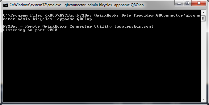 OLAP Reporting Directly from QuickBooks using RSSBus
