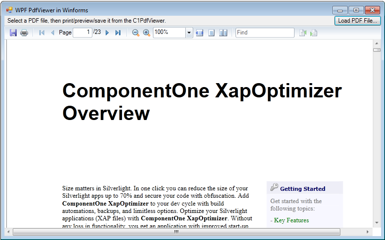 View PDF files within WinForms applications
