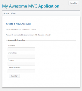 Default MVC Wijmo Application