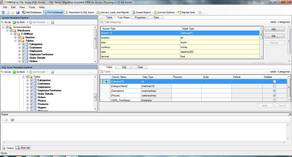 Migrating Access to SQL Server/SQL Azure using SQL Server Migration