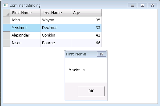 CommandBinding in Wpf C1DataGrid