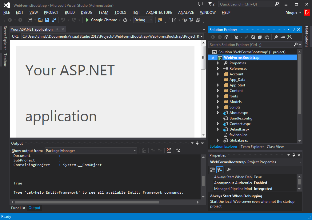 Using Bootstrap with Studio for ASP NET Wijmo