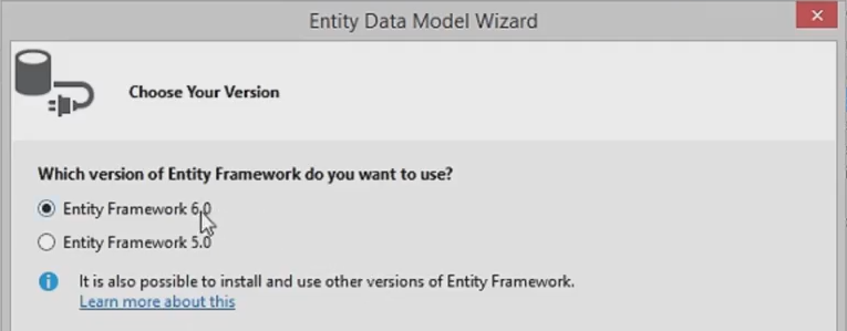 EntityFrameworkVersion