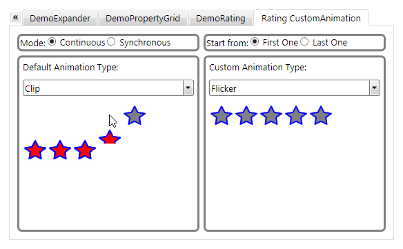 Rating for WPF Custom Animation