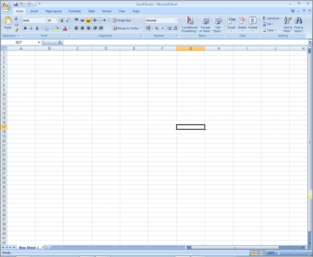ComponentOne Studio Excel for NET for WinForms Blank Excel Workbook