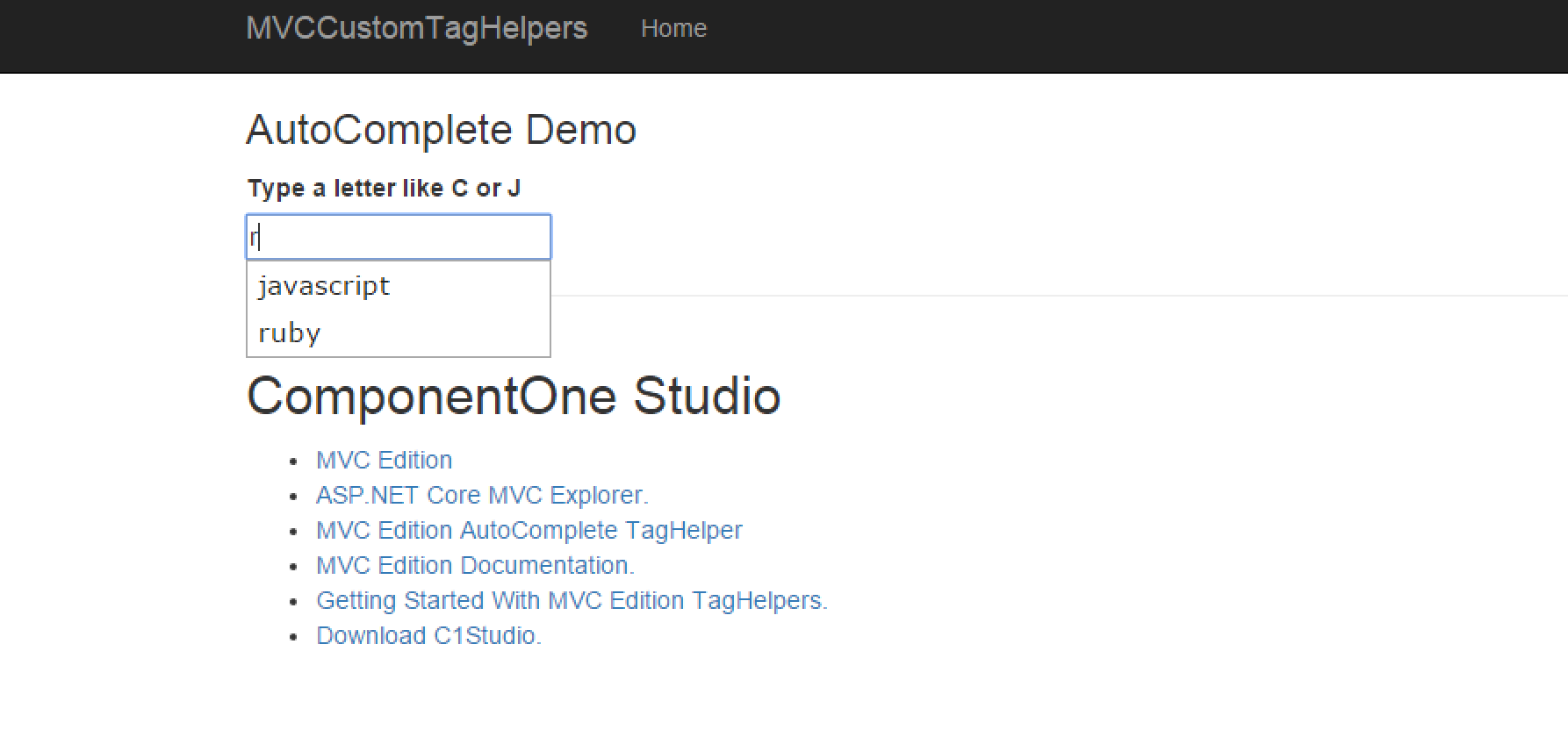 TagHelpers - Creating TagHelper for jQuery UI AutoComplete