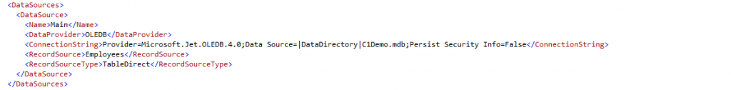 Change connection string for local DB inside report definition
