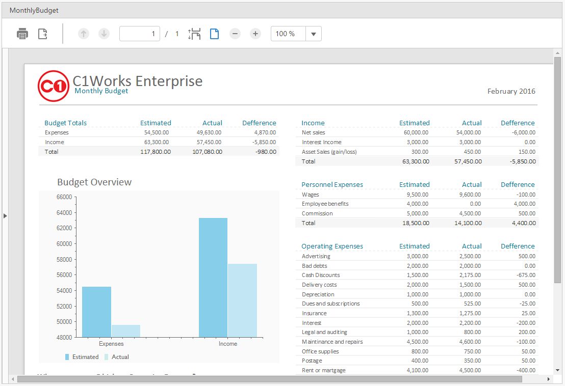 HTML5 Report Viewer - Viewing  NET Reports in ASP NET MVC