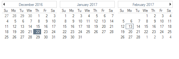 Dimensions in CalendarView
