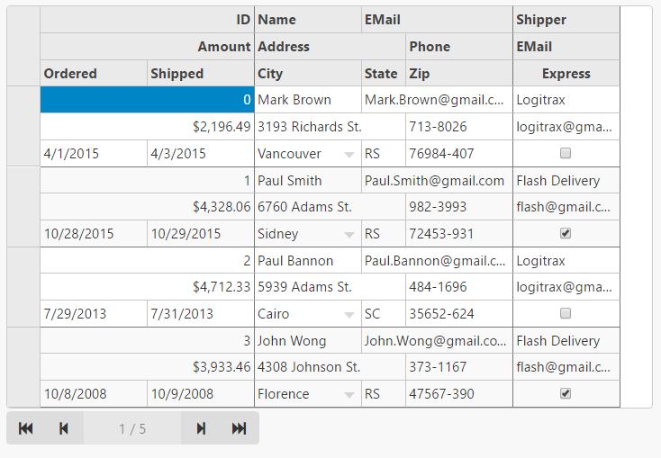 Introducing MultiRow Data Grid for ASP NET MVC