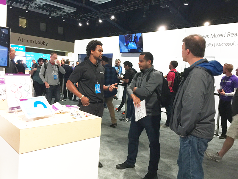 Chatting with developers outside of a HoloLens kiosk
