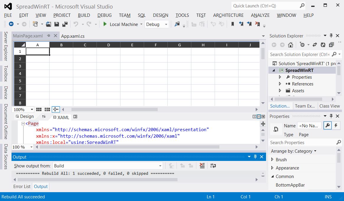 Spread WinRT in Visual Studio 2012