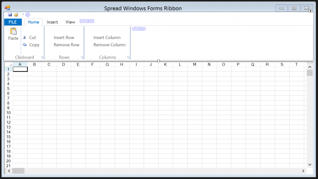 The finished design of the Windows Forms application.