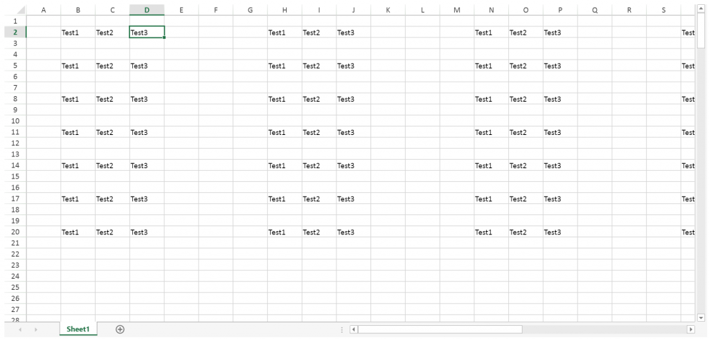 Spread Sheets Excel Navigation