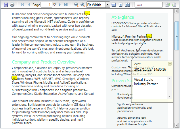 PdfViewer for WPF
