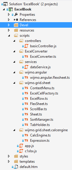 Wijmo FlexSheet Visual Studio Preview