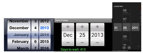 Other date/time controls