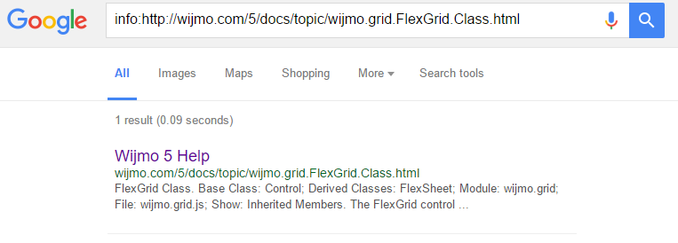 Search results showed the same title for all pages