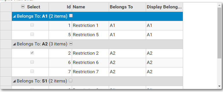 How to prevent wijgrid first row automatic selection | Wijmo