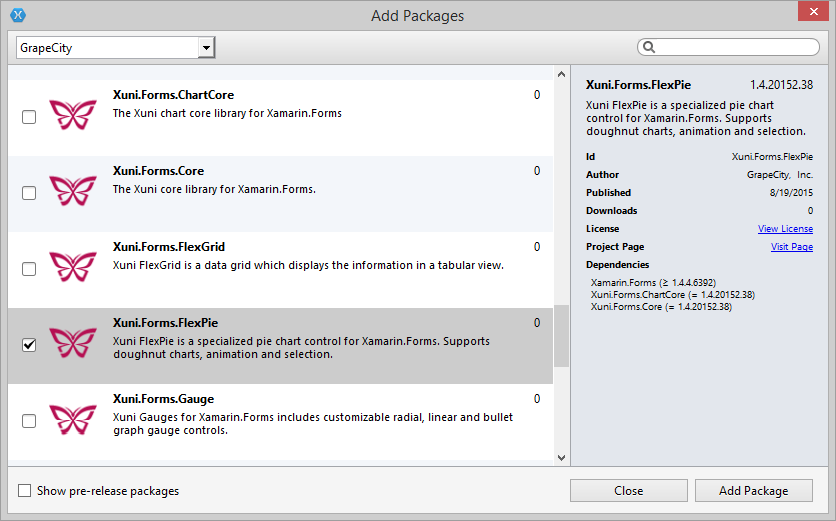 Updating Your Xamarin Forms Projects to Xuni 2015 v2