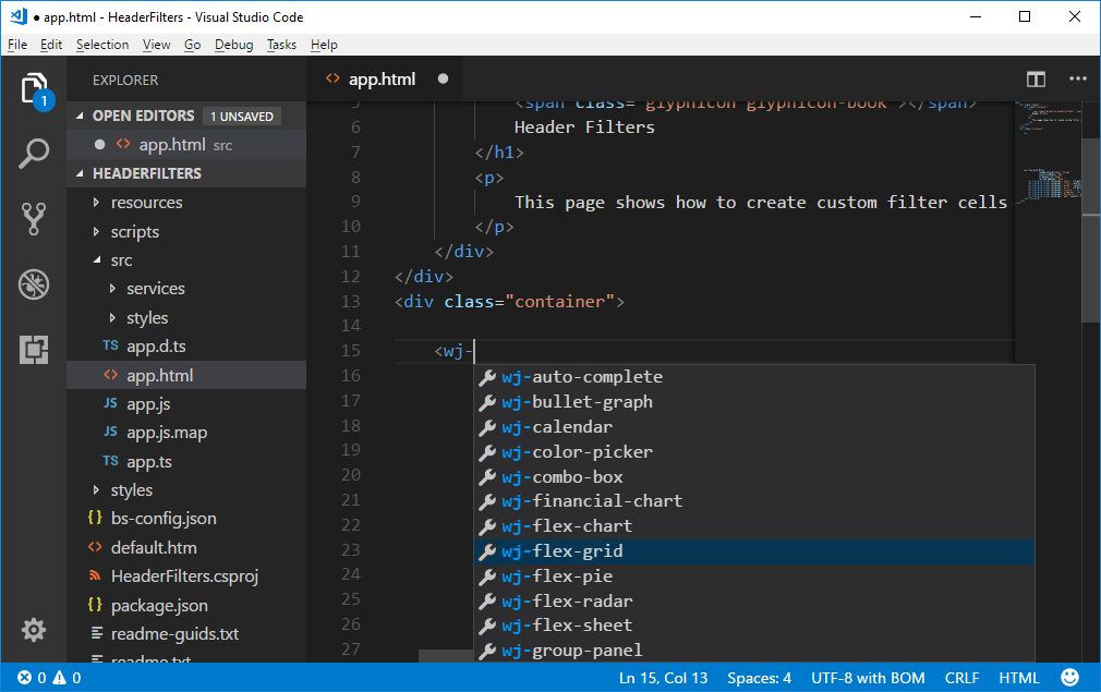 IntelliSense in Angular VS Code